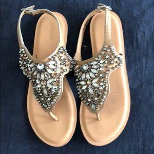 Topshop beaded sandals